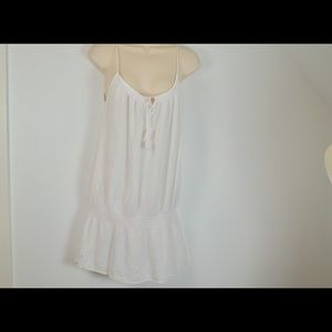 J. Crew Small Guaze White babydoll Blouson Dress